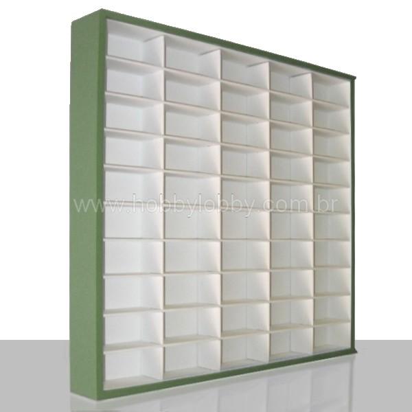 #50 DIECAST DISPLAY CASE - 1:64 [Cor: Verde]  - Hobby Lobby CollectorStore