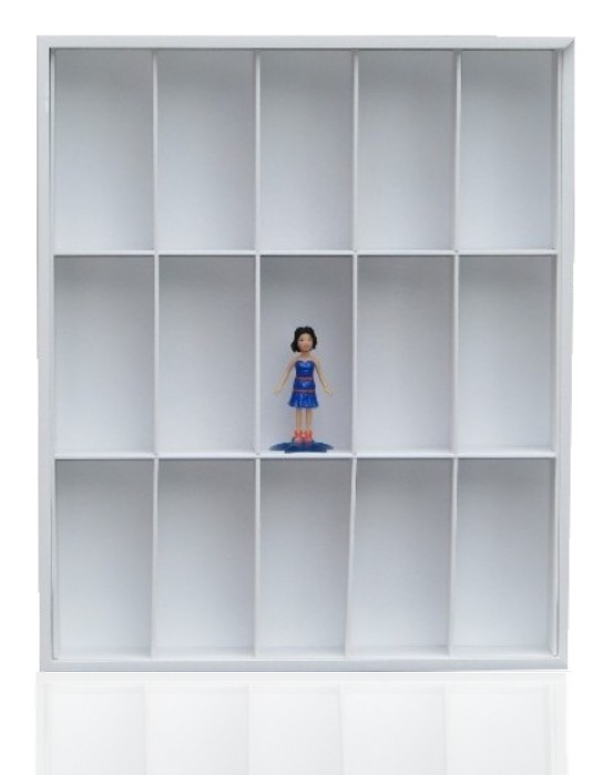 #15 POLLY DOLLS DISPLAY CASE [Branco]  - Hobby Lobby CollectorStore