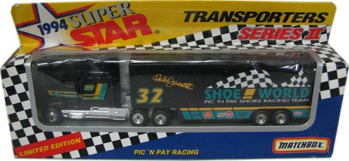 Matchbox - NASCAR Transporter Shoe World Racing Dale Jarrett  - Hobby Lobby CollectorStore