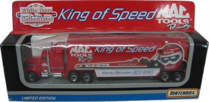Matchbox Dragsters Transporter MacTools Racing Kenny Bernstein  - Hobby Lobby CollectorStore