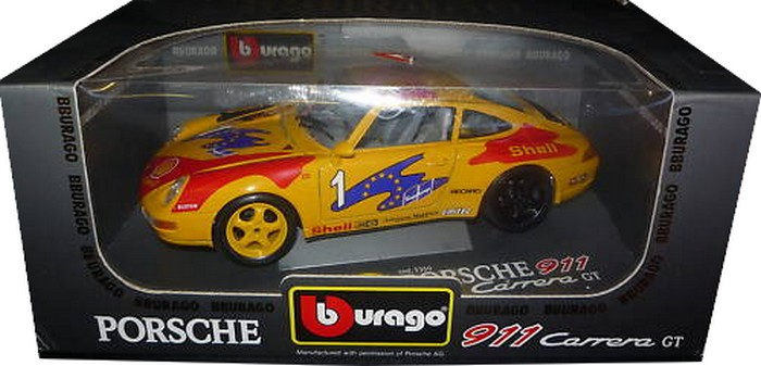 Burago - Porsche 911 Carrera Racing  - Hobby Lobby CollectorStore