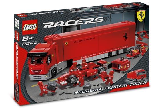 Lego Racers - Ferrari F1 Truck - Ref.: 8654  - Hobby Lobby CollectorStore
