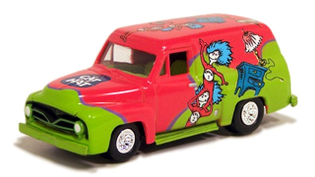 Johnny Lightning - The Cat in the Hat - 1955 Ford Panel Delivery