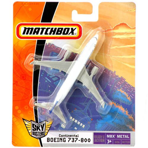 Matchbox - Sky Busters - Boeing 737-800 - CONTINENTAL  - Hobby Lobby CollectorStore