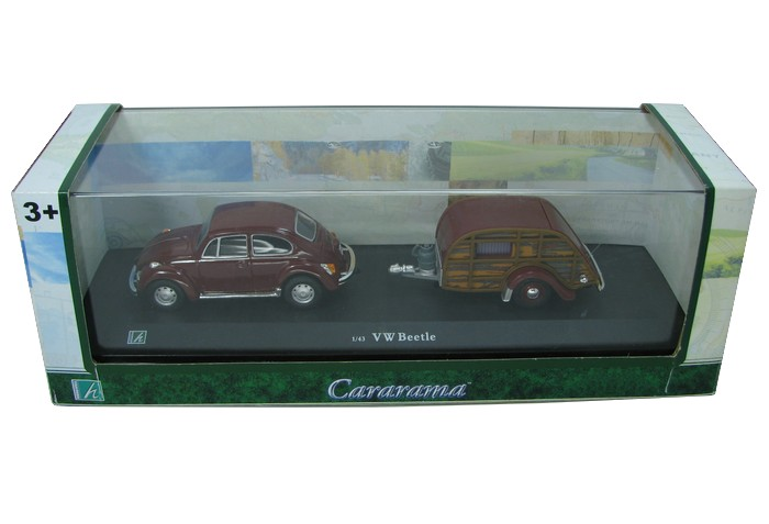 Cararama - VW Beetle com Trailer