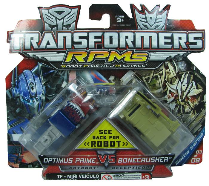 Transformes - Optimus Prime vs Bonecrusher
