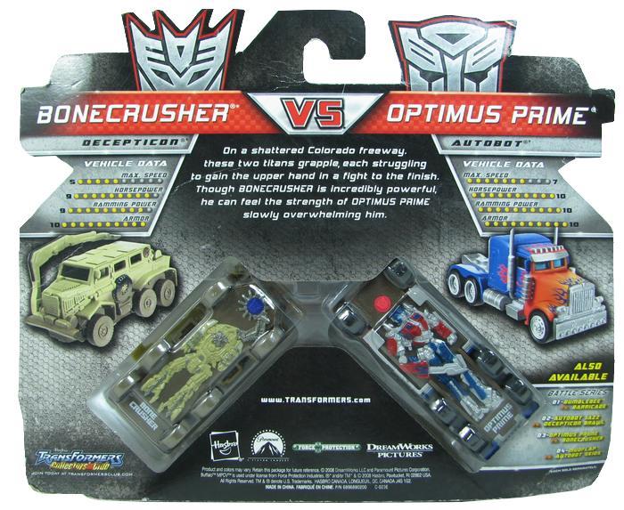 Transformes - Optimus Prime vs Bonecrusher  - Hobby Lobby CollectorStore