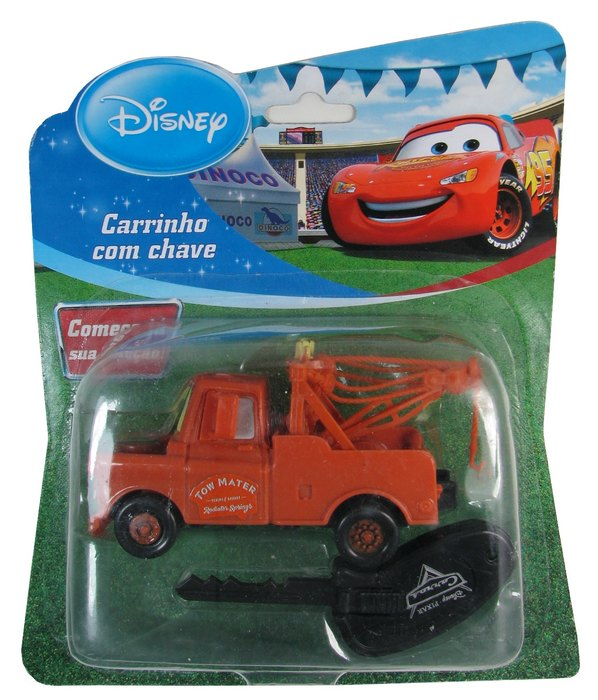 Disney - Tom Mater - Carro com chave  - Hobby Lobby CollectorStore