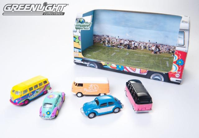 Greenlight - 1:64 MotorWorld - Diorama - Hippie Volkswagens  - Hobby Lobby CollectorStore