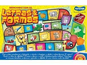 Jogo Brincando com Letras e Formas c/ 41 peças - Toyster  - Hobby Lobby CollectorStore