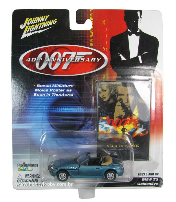 Johnny Lightning - 007  GoldenEye - BMW Z3  - Hobby Lobby CollectorStore