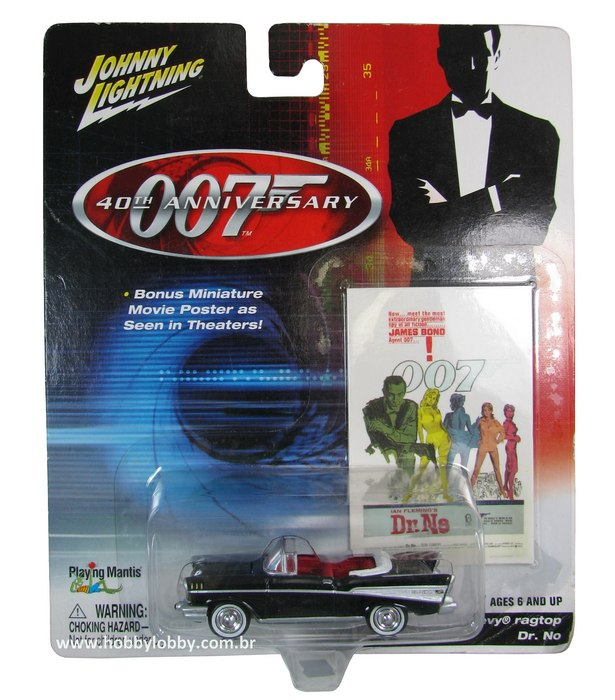 Johnny Lightning - 007 Dr. No - ´57 Chevy Ragtop
