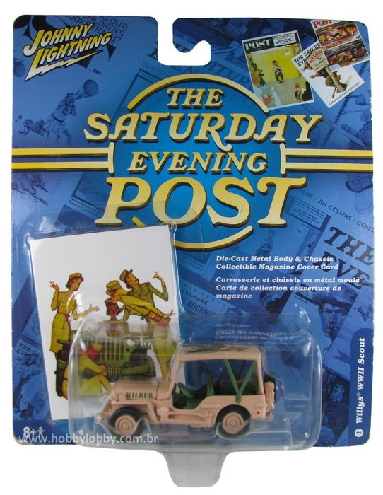 Johnny Lightning - The Saturday Evening Post - Willys WWII Scout  - Hobby Lobby CollectorStore