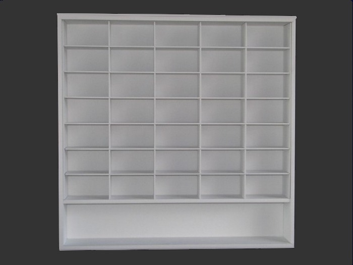#36 CARS MOVIE DISPLAY CASE - 1:43 [Branco]  - Hobby Lobby CollectorStore