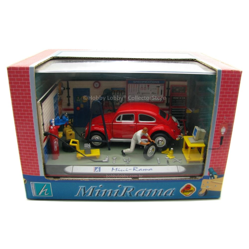 Hongwell - MiniRama Volkwagen Beetle & Workshop Model  Kit  - Hobby Lobby CollectorStore