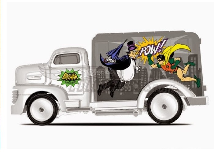 Hot Wheels - 2015 Pop Culture - DC Comics - `49 Ford C.O.E.  - Hobby Lobby CollectorStore