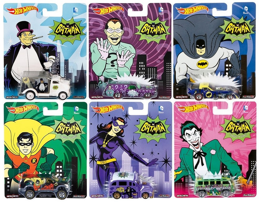 Hot Wheels - 2015 Pop Culture - DC Comics - Batman - Série Completa