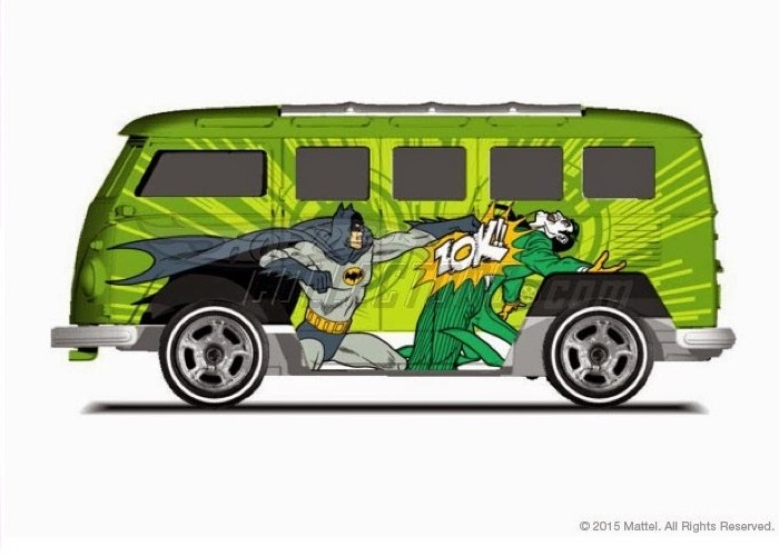 Hot Wheels - 2015 Pop Culture - DC Comics - Volkswagen Custom Wagon  - Hobby Lobby CollectorStore