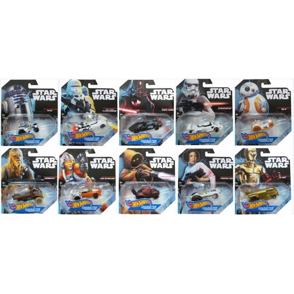 Hot Wheels - Caracter Cars Set