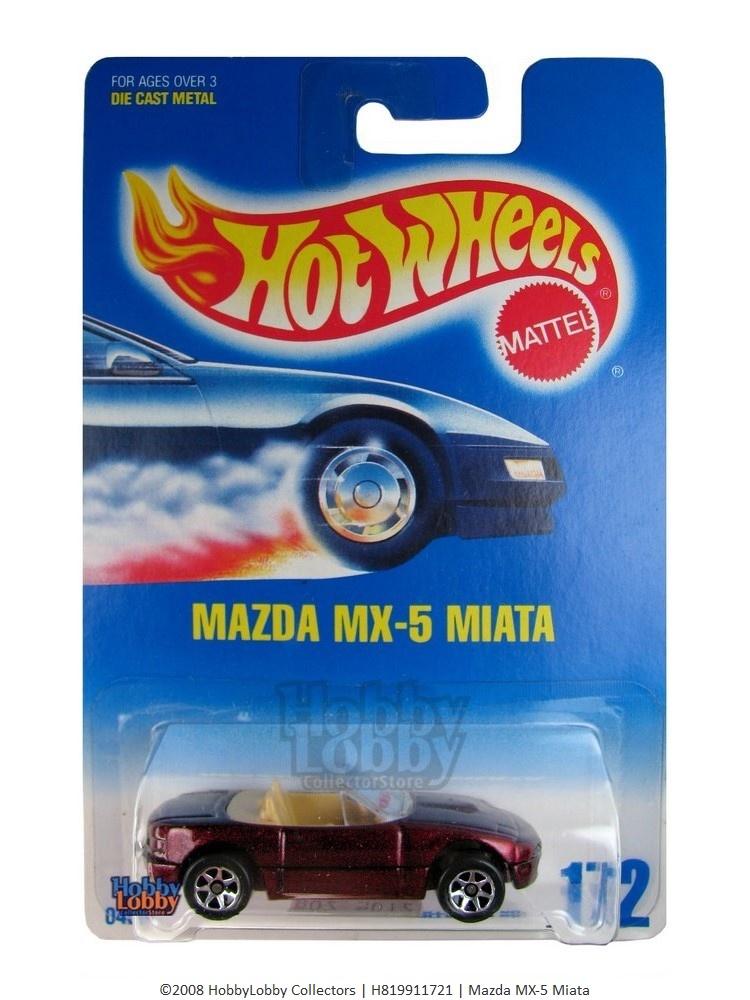 Hot Wheels - Coleção 1991 - Mazda MX-5 Miata  - Hobby Lobby CollectorStore