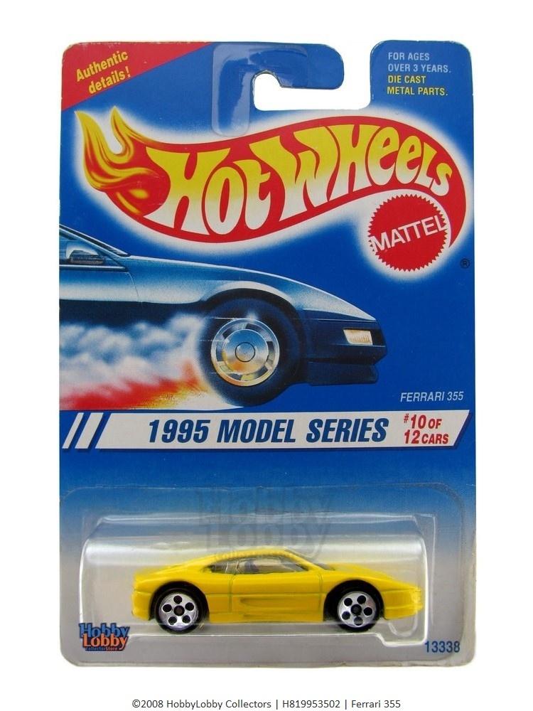 Hot Wheels - Coleção 1995 - Ferrari 355 (variação)  - Hobby Lobby CollectorStore