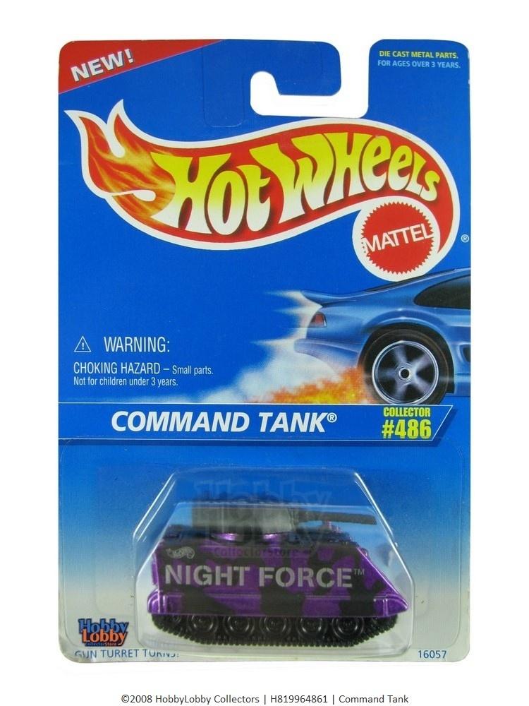 Hot Wheels - Coleção 1996 - Command Tank  - Hobby Lobby CollectorStore