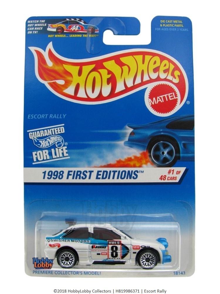 Hot Wheels - Coleção 1998 - Escort Rally  - Hobby Lobby CollectorStore