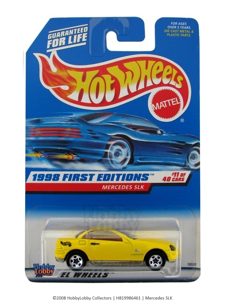 Hot Wheels - Coleção 1998 - Mercedes SLK  - Hobby Lobby CollectorStore