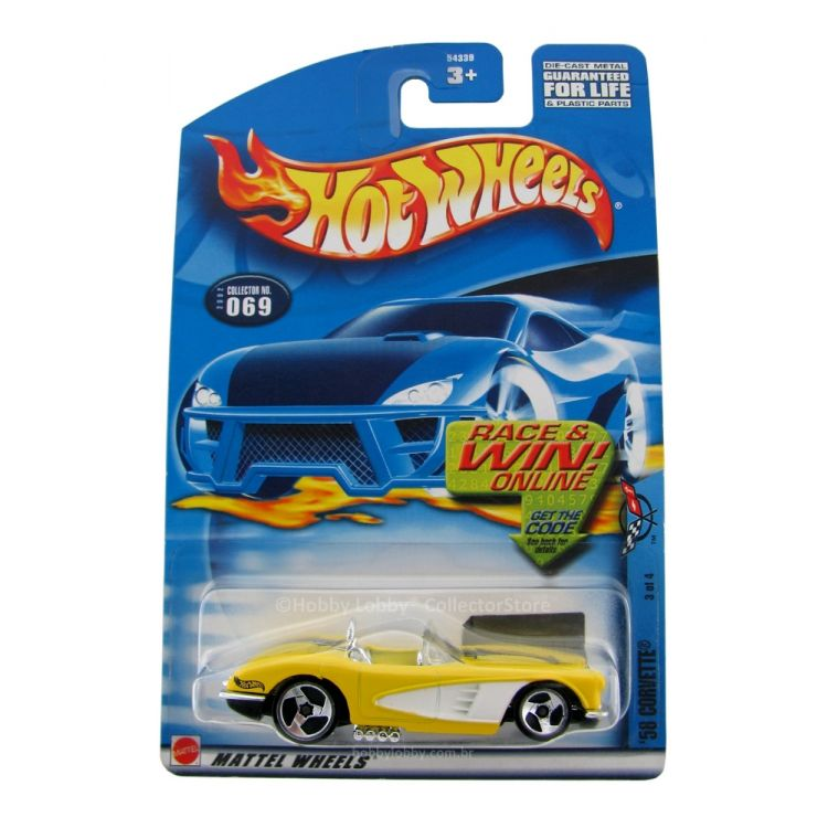 Hot Wheels - Coleção 2002 - 58 Corvette  - Hobby Lobby CollectorStore