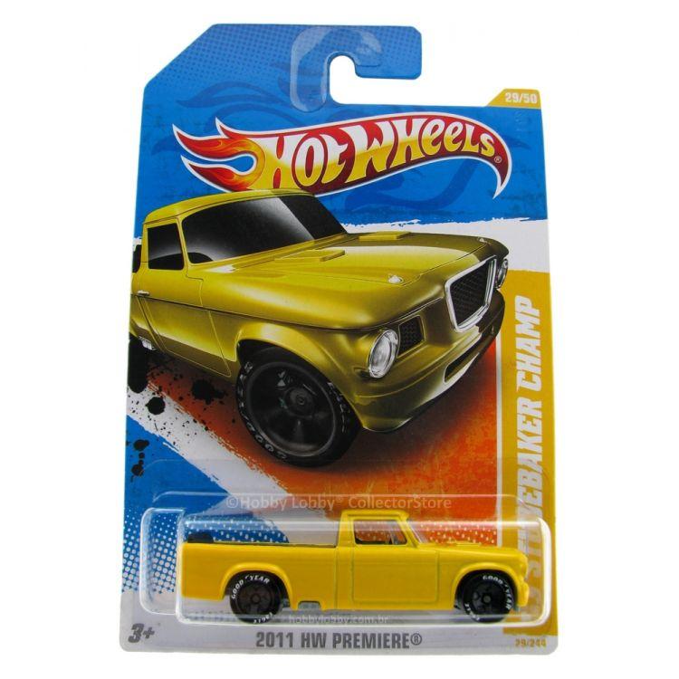 Hot Wheels - Coleção 2011 - ´63 Studebaker Champ [amarelo]  - Hobby Lobby CollectorStore