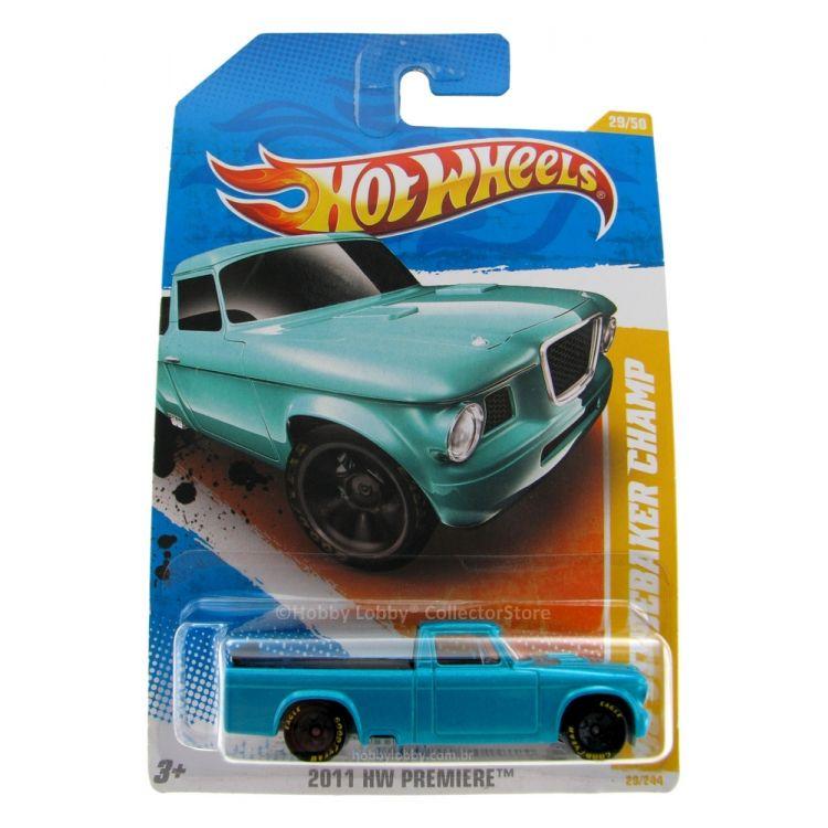 Hot Wheels - Coleção 2011 - ´63 Studebaker Champ [azul]  - Hobby Lobby CollectorStore