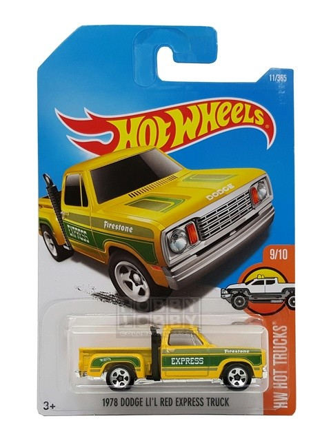 Hot Wheels - Coleção 2017 - 1978_Dodge Li´l Red Express Truck  - Hobby Lobby CollectorStore