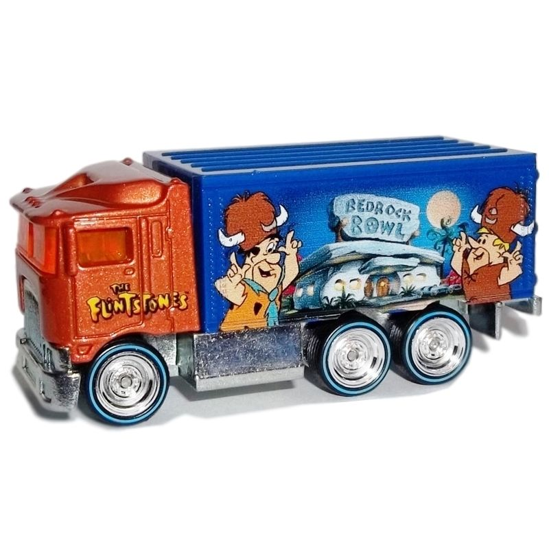 Hot Wheels - Culture Pop 2014 - Hanna-Barbera - The Flintstones - Hiway Hauler  - Hobby Lobby CollectorStore