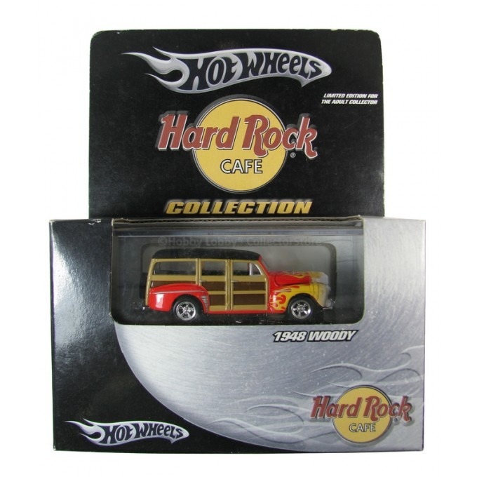 Hot Wheels - Hard Rock Cafe - 1948 Woody  - Hobby Lobby CollectorStore