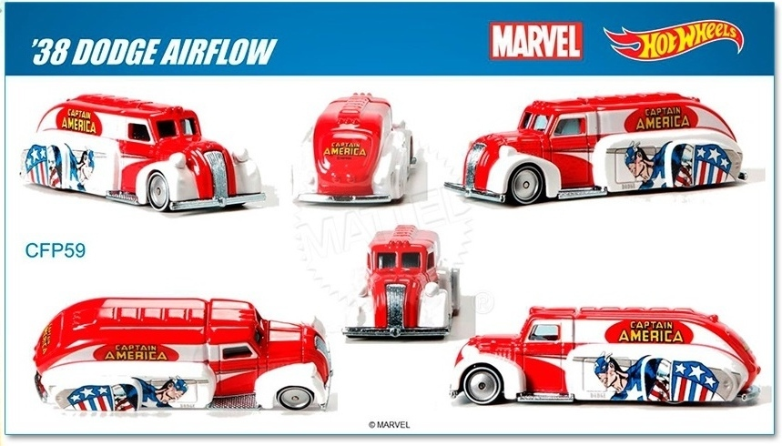 Hot Wheels - 2015 Pop Culture - Marvel - `38 Dodge Airflow  - Hobby Lobby CollectorStore