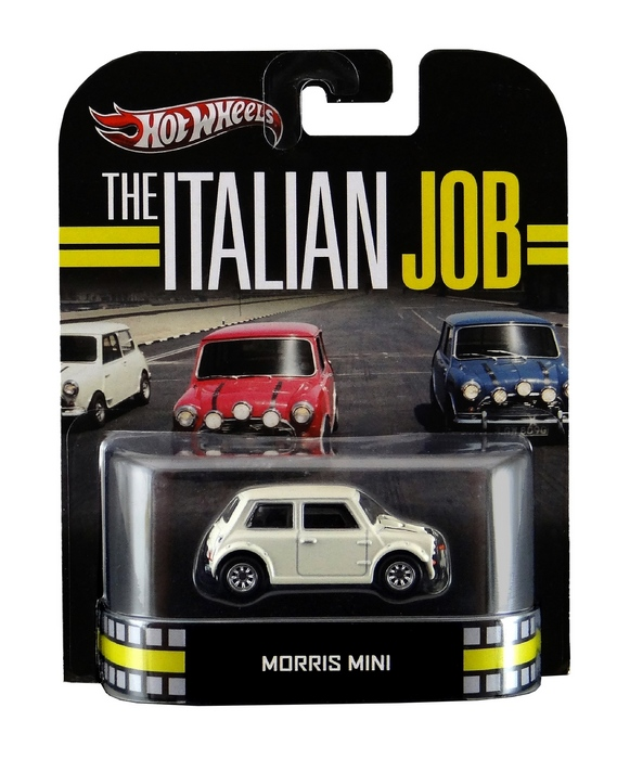 Hot Wheels - Retro Entertainment 2013 - The Italian Job - Morris Mini (branco)  - Hobby Lobby CollectorStore