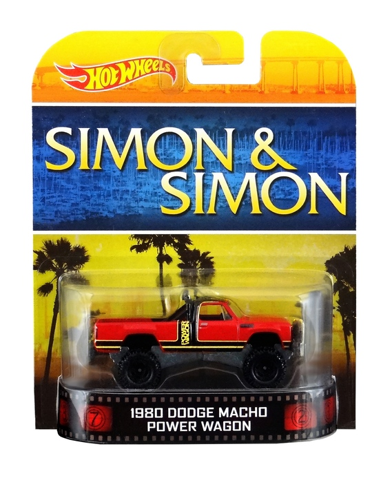 Hot Wheels - Retro Entertainment 2014 -  Simon & Simon -  `80 Dodge Power Wagon  - Hobby Lobby CollectorStore