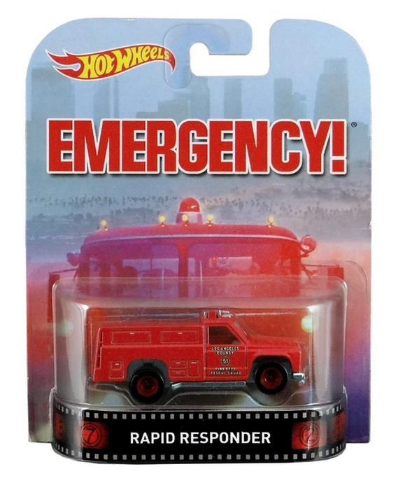 Hot Wheels - Retro Entertainment 2015 - Emergency - Rapid Response  - Hobby Lobby CollectorStore