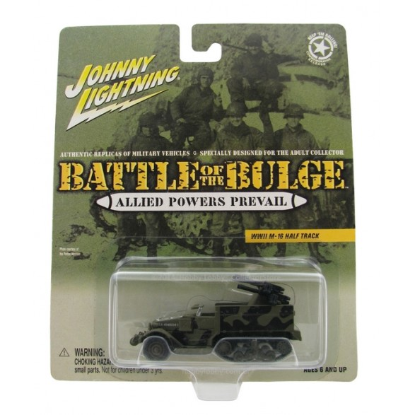 Johnny Lightning - Battle of the Bulge - WWII M-16 Half Track  - Hobby Lobby CollectorStore