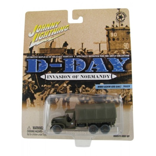 Johnny Lightning - D-Day - Invasion of Normandy - WWII CCKW 6X6 GMC Truck  - Hobby Lobby CollectorStore