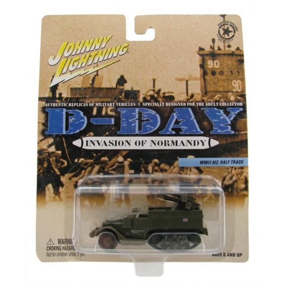 Johnny Lightning - D-Day - Invasion of Normandy - WWII M2 Half Track  - Hobby Lobby CollectorStore