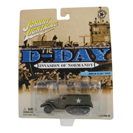 Johnny Lightning - D-Day - Invasion of Normandy - WWII M-16 Half Track  - Hobby Lobby CollectorStore