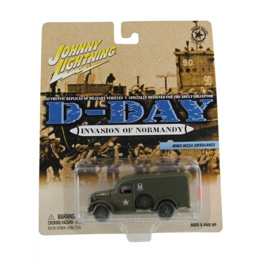 Johnny Lightning - D-Day - Invasion of Normandy - WWII WC54 Ambulance  - Hobby Lobby CollectorStore