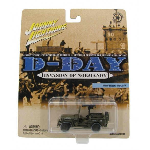 Johnny Lightning - D-Day - Invasion of Normandy - WWII Willys MB Jeep  - Hobby Lobby CollectorStore