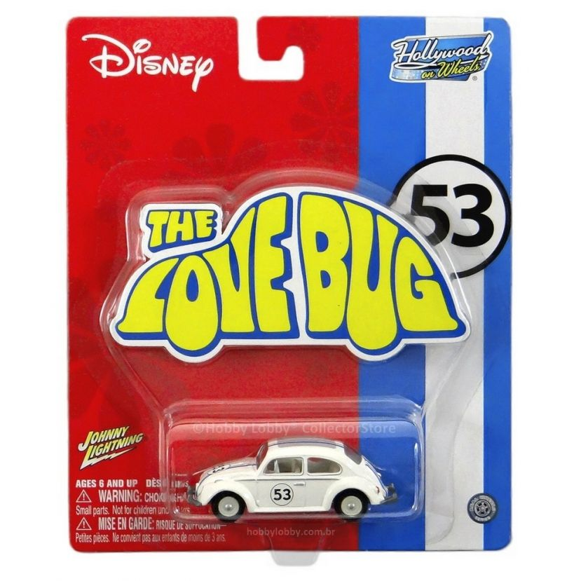 Johnny Lightning - Hollywood on Wheels - The Love Bug - Hobby Lobby CollectorStore