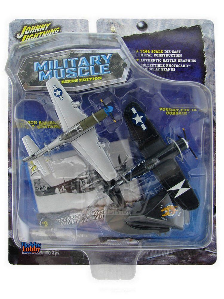 Johnny Lightning - Military Muscle - North American P-51D Mustang e Vought F4U-1A Corsair