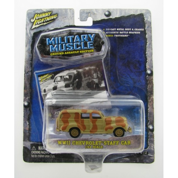 Johnny Lightning - Military Muscle - WWII Chevrolet Staff Car  - Hobby Lobby CollectorStore