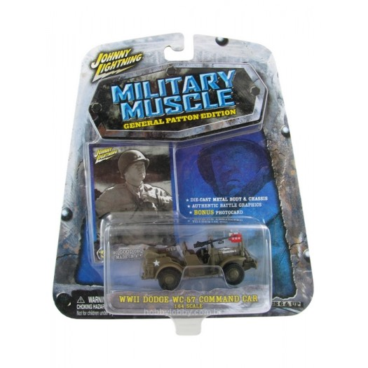 Johnny Lightning - Military Muscle - WWII Dodge WC-57 Command Car  - Hobby Lobby CollectorStore