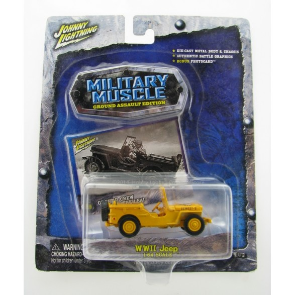Johnny Lightning - Military Muscle - WWII Jeep  - Hobby Lobby CollectorStore