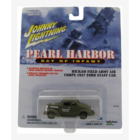 Johnny Lightning - Pearl Harbor - Hickam Field Army Air Corps - 1937 Ford Staff Car  - Hobby Lobby CollectorStore